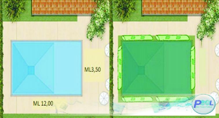 copertura invernale per piscina