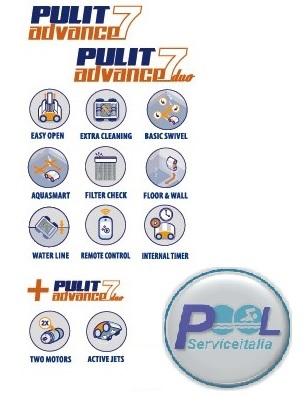 tabella caratteristiche pulit advance 7